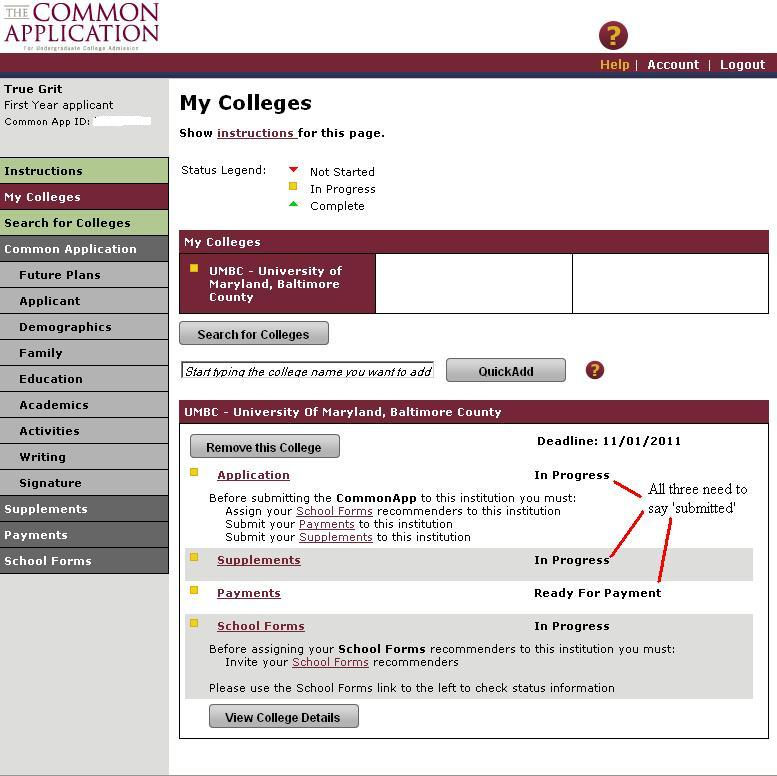 Common App | UMBC Admissions Counselors' Blog
